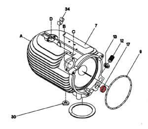 17) Collar (combustion air reducer)