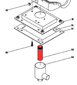 53) Exhaust pipe assembly (stub)