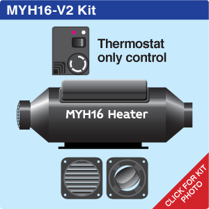 MYH16 Vehicle + 2 hot air outlets