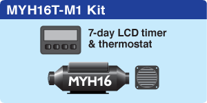 MYH16T Marine + 7-day LCD Timer + 1 hot air outlet