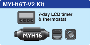 MYH16T Vehicle + 7-day LCD Timer + 2 hot air outlets